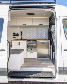 Check out one of our latest builds This rig has it all an oven for that ThanksCheck out one of our latest builds This rig has it all an oven for that Thanksgiving turkey roof rack AC toilet 11 surfboard Sprinter Camper, Camping Car Sprinter, Benz Sprinter, Camper Hacks, Diy Camper, Camper Life, Campers, Van Conversion Interior, Camper Van Conversion Diy
