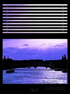 Window View - Color Sunset in Paris with the Seine River - France - Europe Photographic Print by Philippe Hugonnard at AllPosters.com