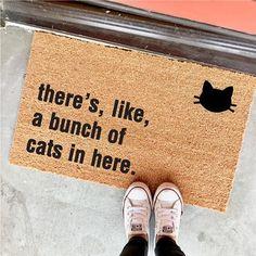 THE ORIGINAL bunch of cats in here™ doormat - - cat lover - funny doormats - cat lady - housewarming gift - the cheeky doormat Buy A Kitten, Buy A Cat, Crazy Cat Lady, Crazy Cats, Funny Doormats, Cat Cafe, Cat Gifts, Cat Breeds, Cool Cats