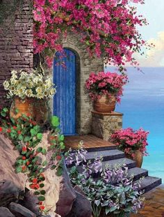 Entertainment Discover Courtyard by the Bay TA Es lohnt sich . Beautiful Paintings, Beautiful Landscapes, Landscape Art, Landscape Paintings, Landscape Photography, Beautiful Places, Beautiful Pictures, Floral Wall Art, Diy Canvas Art