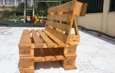 Outdoor Pallet Projects Easy diy outdoor pallet bench for home