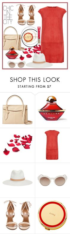 """""""Red"""" by biange ❤ liked on Polyvore featuring Foley + Corinna, Guerlain, MuuBaa, rag & bone, Le Specs Luxe, Aquazzura, Kate Spade and Clarins"""