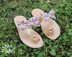 """Handmade Leather Sandals """"Flowers in my heart"""""""