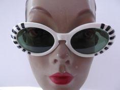 Vintage 1960s Sunglasses White Plastic by TimelessTreasuresVCB, $38.00