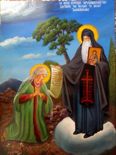 Irene Chrysovalantou flourished after the death of the greedy Emperor Theophilos I. After Theophilos's death his spouse, the most rever. Byzantine Icons, Art Icon, Roman Catholic, Christian Faith, Irene, Saints, Religion, Spirituality, Artwork