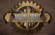 Neon Star #Steampunk Logo