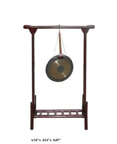 Chinese Rustic Red Wood Frame Stand Gong Display VS949 | eBay
