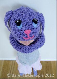 Crochet rabbit hat