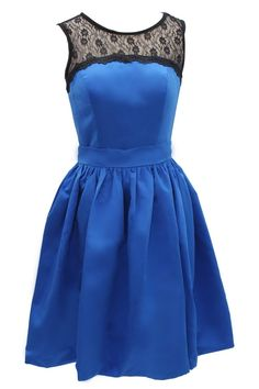 Tidetell.com Sweet A-line Scoop Knee Length Taffeta Homecoming Dress with Lace, royal blue homecoming dresses, juniors homecoming dresses, cheap homecoming dresses, short homecoming dresses, plus size homecoming dresses