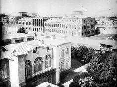 Grădina palatului Suţu era cu mult mai extinsă la 1900