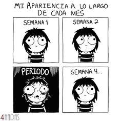 La cruda verdad en nuestras vidas  . ¡Feliz tarde! . #4Hadas #Humor #Meme #Risas #Chiste #Periodo #Menstruacion #Mujeres #True #LaCrudaVerdad