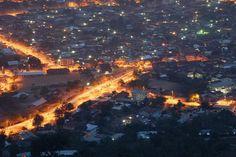 Night time Accra, Ghana