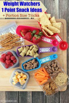 Weight Watchers 1 Point Snack Ideas + Portion Size Tricks! WeightWatchers WWsponsored
