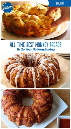 All of your guests will love these super easy monkey breads this holiday season! From breakfast to dessert to appetizers you will find the perfect treat to serve your family and friends. These easy monkey breads also make the perfect breakfast for Christmas morning.