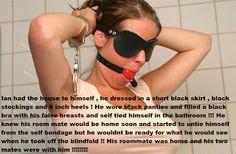 Stephanie Forced Femme Caps: Selfbondage