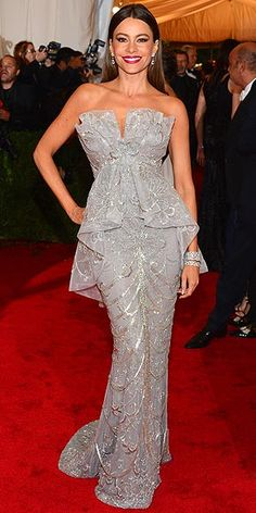 Love the details on this Marchesa worn by Sofia Vergara, whose figure makes this dress. 2012 Met Gala