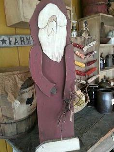 Cute wood craft rustic Santa