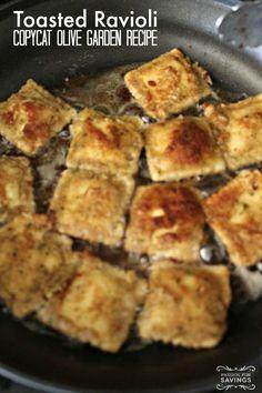 Olive Garden Copycat Toasted Ravioli Recipe! Easy Homemade Restaurant Appetizer Recipe!