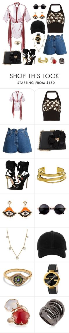 """Create some fun in the sun. Halter top style."" by jeniferkcarsrud ❤ liked on Polyvore featuring Romeo Gigli, Marni, Valentino, Lanvin, Dsquared2, Elizabeth and James, Diana M. Jewels, rag & bone, Ileana Makri and Gucci"