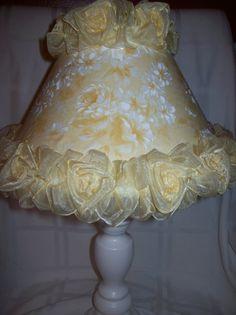 Yellow Shabby Chic | SHABBY CHIC Yellow Roses LAMP Shade Yellow by Shabbychicbydesign, $35 ...