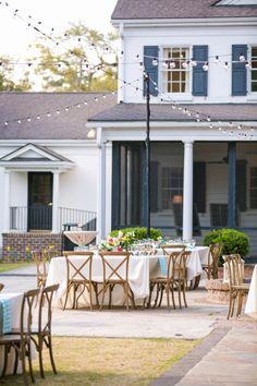 Outdoor Open Air Reception // Rustic Chic Legare Waring House Wedding // Dana Cubbage Weddings // Charleston SC + Destination Wedding Photographer