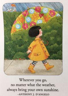 Wherever You Go-Handmade Fridge Magnet-Mary Engelbreit Artwork