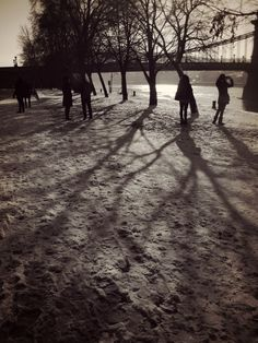 Photo by me. Photo: Diána Rigó #Budapest, V. ker. - in the #winter of 2016 #Hungary  #photography #streetphotography #people in the #snow - #shadows