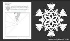 snowflake method template - paper snowflake cutting pattern snowflakes paper