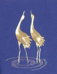 Gold-work Cranes kit available for purchase