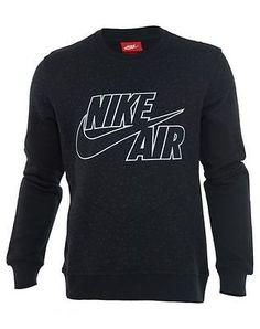 Nike Air Crew Sweat Shirt Retro Mens  Hoodies & Sweats 631906-010 Black SZ-2XL