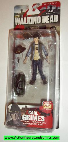 Todd McFarlane toys AMC's THE WALKING DEAD 2014 series 4 CARL GRIMES NEW still factory sealed in the original package. figure size: approx. 5 inches tall condition: Package is in overall great conditi