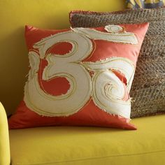 Blissliving Home Om Pillow in Coral - BL69195