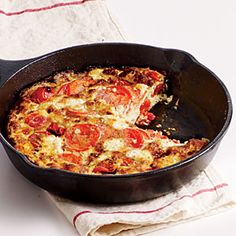 Two-Tomato, Basil, Goat Cheese Frittata | MyRecipes.com #myplate #protein #vegetable