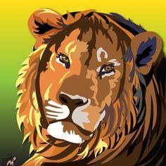 Media: Adobe Illustrator #lion #cat (All Rights Reserved)