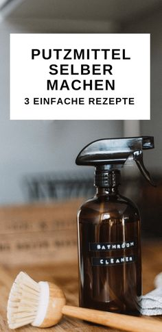 Putzmittel selber machen – 3 einfache Rezete inklusive Anleitung Cleaning agents do not only protect your health and the environment, but also your wallet. Make cleaning means yourself is very easy and at the same time fun.