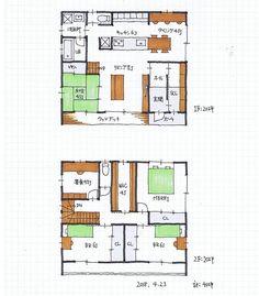 アトリエオーブさんはInstagramを利用しています:「『40坪の間取り』 ・ キッチンからあちこち見渡せる間取りです。 シューズクローゼットも大きめです。 ・ ・ ・ ・ ・ 『無料間取り相談会6月のお知らせ』 ・…」 Japanese Modern House, House Plans, Floor Plans, Flooring, How To Plan, Architecture, Building, Home Decor, Space