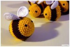 crochet bees by heavyteeth.deviantart.com on @deviantART