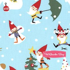 Michael Miller Gnome for the Holidays Yardage