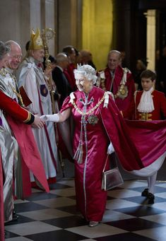 .Queen Elizabeth II attends a service for the Order of the British Empire at St Paul's Cathedral on March 7, 2012 in London, England.