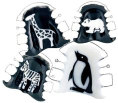 Going to the zoo - with orthodontic acrylics Orthocryl® black&white by Dentaurum for creative appliances and retainers #Orthocryl #orthodontics