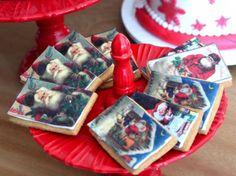 Bolachas estampadas com tema Natal!