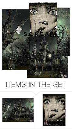 """SCREAM"" by laughingdog ❤ liked on Polyvore featuring art"