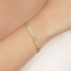 Delicate Gold Bracelet Dainty Chain Bracelet Layered Bracelet Bridal Wedding Bracelet 24k gold plated jewelry.