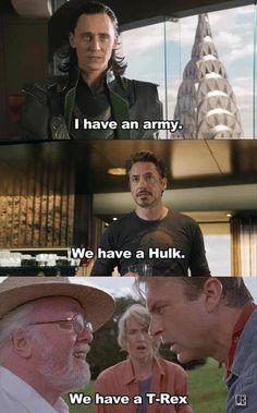 Funny Avengers Jurassic Park Meme