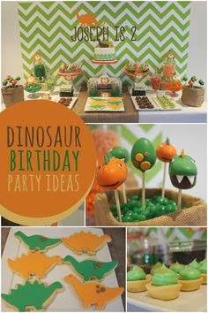 A Dino-mite Dinosaur Boy's 2nd Birthday Party - Spaceships and Laser Beams