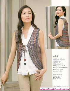 Vest pattern with diagrams #crochet