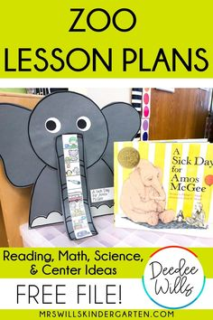 Zoo lesson plans for kindergarten and first grade. Reading, math & literacy centers, science activities, and a math freebie will keep your students engaged in your zoo unit of study! Kindergarten Lesson Plans, Kindergarten Centers, Math Literacy, Kindergarten Reading, Kindergarten Classroom, Kindergarten Activities, Science Activities, Literacy Centers, Classroom Activities