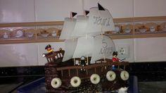 Tarta barco pirata