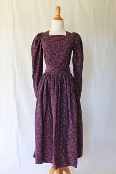 Designer Vintage Clothing For Women On Ebay Vintage LAURA ASHLEY Georgian