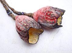 Artisan Ceramic Porcelain and stoneware Beads by greybirdstudio